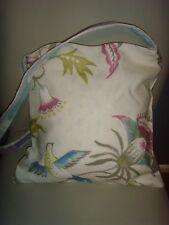 NEW HANDMADE in john lewis paradaiza BIRD PRINT  14in LINED Tote Shoulder bag