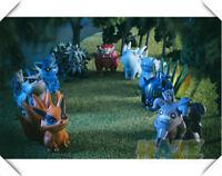 Naruto Shippuden Uzumaki & Tailed Beast 10pcs Set PVC Figura Modelo Juguetes