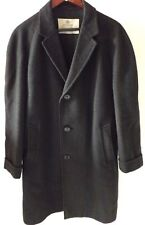 Aquascutum (England) Men's  Classic Wool Coat - Gray -  Size UK 40