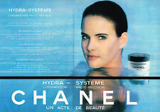PUBLICITE ADVERTISING 114  1989  CHANEL  cosmétiques ( 2p)  HYDRA-SYSTEM