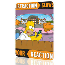 """Metal Tin Sign The Simpsons """"Distraction Slows"""" Security Collection 2 Decor Wall"""