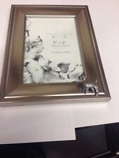 D21 Fox Terrier   PICTURE FRAME SILVER EMBLEM 6X4 , 4x6  HANG OR STAND