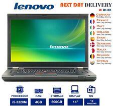"Lenovo ThinkPad T430 14.0"" Laptop Intel i5 2.60GHz 4GB RAM 500GB HDD Windows 10"