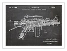 AR-15 ASSAULT RIFLE POSTER BLACKBOARD INVENTION 1966 US PATENT ART PRINT