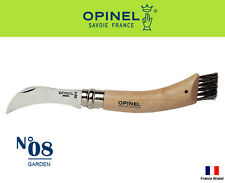 Opinel France No08 Stainless Steel Garden Hook Caigu Folding Knife With Brush