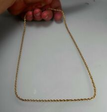 """14K SOLID GOLD 24.25"""" Awesome Diamond Cut Rope Link Chain Necklace MINT"""