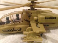 "AH-64 Apache Helicopter, U.S ARMY Military, 9.5"" Diecast Pull Back, Toys, Brown"