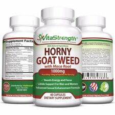 Premium Horny Goat Weed With Maca Root - Female and Male Enhancement Herbs