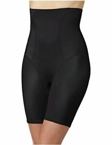 Bali Women's Shapewear Cool Comfort Hi-Waist Thigh Slimmer,, Black, Size X-Large