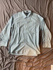 Tommy Hilfiger Shirt (white-blue stripes) Extra Large
