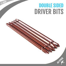 5x 200mm Long PH2 Double Sided Phillips Screwdriver Bits Impact Screw Driver NEW