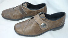 RIEKER ANTISTRESS Brown LEATHER loafers slip on SHOES Flats  UK 6/ 39 RRP Ł54.99