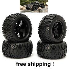 4PCS Wheel Rim & Tires HSP 1:10 Monster Truck RC Car 12mm Hub 88005 off road