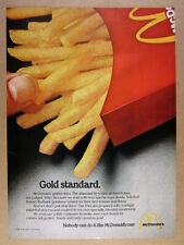 1980 McDonald's French Fries 'Gold standard.' vintage print Ad