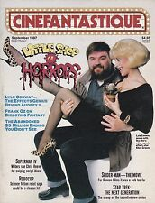 CINEFANTASTIQUE SEP 1987 LITTLE SHOP HORRORS SPIDER-MAN STAR TREK SUPERMAN IV