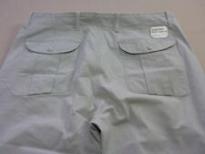 068 WOMENS EX-COND DIESEL RELAXED FIT LT GREY CARGO PANTS SZE 34 TALL $230 RRP.