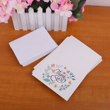 50 Cards and Envelopes Thank You Greeting Cards Floral Flowers Cards Favour
