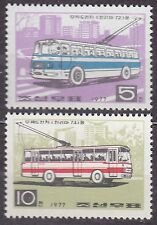 KOREA Pn. 1977 mint(*) SC#1589/90 set, Trolley Buses.
