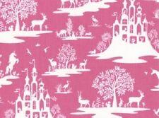 Dear Stella Fabric - Fairy Toile - Fuschia - 100% Cotton
