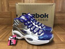 EUC🔥 Reebok Allen Iverson Question Pearlized Quilt Purple Ice 6.5 Unisex Shoes