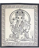 Tages-decke Ganesh Baumwolle Wandbehang Bettüberwurf Dekotuch Indien Goa Ganesha