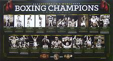 AUSTRALIA'S BOXING WORLD CHAMPIONS 1890-2013 OFFICIAL PRINT MUNDINE GREEN TSZYU