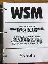 Kubota BX1860, BX2360, BX2660 Tractor Workshop Service Manual