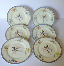 Set of 6 Haviland Limoges Birds Of Paradise Salad Plates