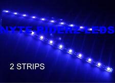 """MERCEDES PORSCHE LOTUS BMW BLUE 12"""" 5050 SMD LED STRIPS TOTAL OF 24 LEDS"""