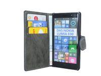 Book-Style Handyhülle Tasche Case Cover für Nokia Lumia 830 + Folie // Anthrazit
