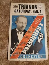 Vtg  BIG BAND Poster Ernie Palmquist 1936 dance Croweburg Trianon Kansas