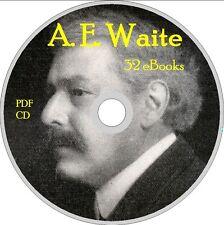 A. E. WAITE collection 32 BOOKS pdf on CD  OCCULT TAROT MAGIC KABBALA MASONRY