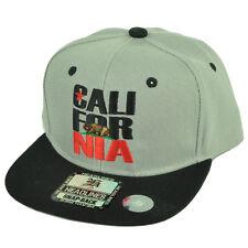 Cali California Republic CALI-FOR-NIA Flat Bill Hat Cap Snapback Youth Kids Gray