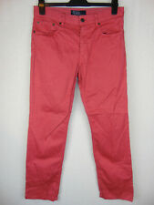 Polo Ralph Lauren Slim Fit Mens Red Canvas Chinos Jeans W32 L30