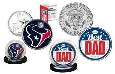 Best Dad - HOUSTON TEXANS 2-Coin US Set Quarter and JFK Half Dollar NFL LICENSED