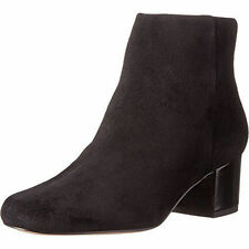 $150 size 8 Sam Edelman Edith Black Suede Heels Ankle Boots Womens Shoes NEW