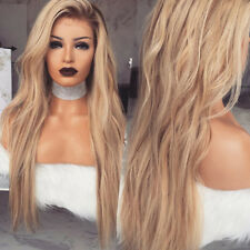 Lady Blonde Gradient Long Curly Hair Wavy Full Wig Heat Resistance Party AU