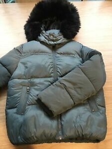 Boys Green & Black Hooded Anorak Coat Jackets By River Island Age 7-8 Years
