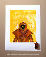 Star Wars VINYL JAWA Vintage Kenner Action Figure ORIGINAL ART PRINT 3.75