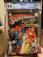 Superman 199 CGC 4.5 (First Flash vs. Superman Race!!!) Silver Age Epic Comic!!!