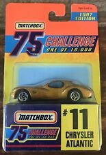 Matchbox 75 Challenge Gold Chrysler Atlantic NEW Limited Edition 1:64 Scale