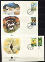 S3735) Liechtenstein 1989 MNH Wwf, Animals 4v FDC