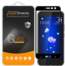 2X Supershieldz HTC U11 / U 11 Full Cover Tempered Glass Screen Protector -BLACK