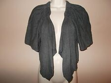 Olive & Oak Womens Size S Solid Gray Shrug Sweater Short Sleeves