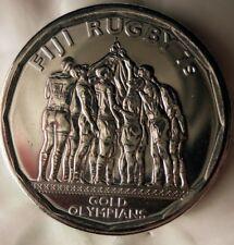 2017 Fiji 50 Centesimi - Rugby Oro Medaglia - Au / UNC Bin # Fff