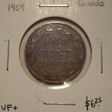 Canada Edward VII 1909 Large Cent - VF+