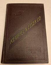 Keuffel & Esser Catalog  K & E 38th Edition 1936 Price List 1937 Drafting Supply