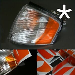 5 x US - Design - Folie für weiße Blinker Mercedes W202 vorne rechts/links