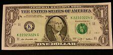 2009 $1 FANCY LADDER SERIAL # K22323224