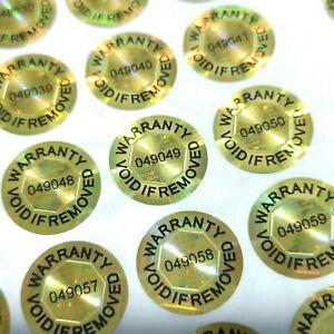 15mm Tamper Proof Warranty Void Hologram Security Stickers Tamper Evident